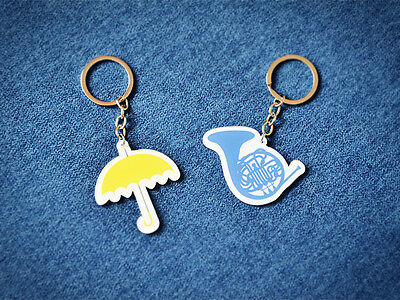 How I Met Your Mother HIMYM Yellow Umbrella Blue Horn Acrylic Keyrings Key Chain