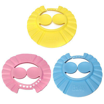 Baby Kids Children Toddler Shampoo Bath Shower Cap Hat Wash Hair Shield DI