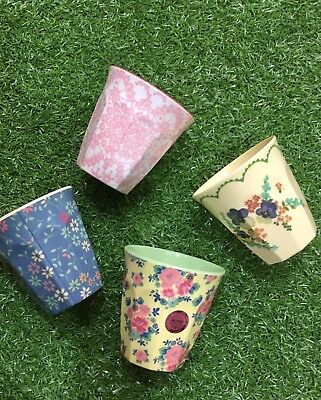 RICE Melamine (Set of 4) Cups - Variety Pack with a free gift card