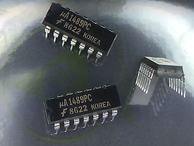 100 X uA1489PC   Line Receiver, Quad, Single Ended, 14 Pin (MC1489N)