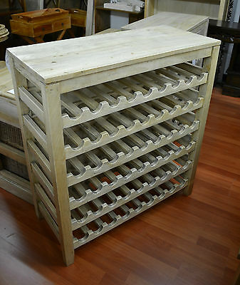 Rustic  Mango Fruit Wood Timber  Wine Rack wine storage  54 bottles