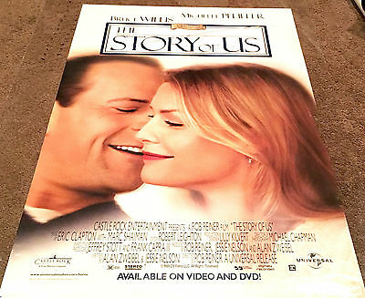 The Story of Us Movie Poster Bruce Willis, Michelle Video Promo Poster 1999