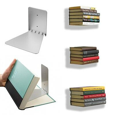 2/3pc Conceal Invisible Bookshelf Wall Mounted Floating Book Shelf Storage