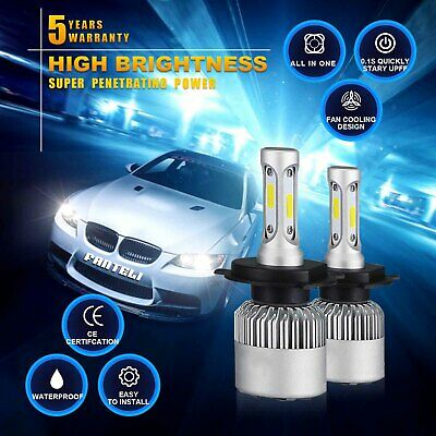 120W 12000lm All-In-One LED Headlight Kit H4 HB2 9003 High/low Beams 6000K Bulbs