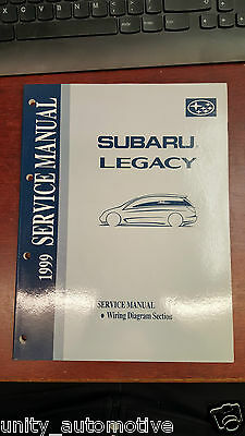 1999 Subaru Legacy Service Technical Manual Wiring Diagram OEM Rare Collectible