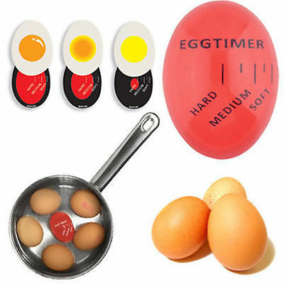 Egg Perfect Color Changing Timer Yummy Soft Hard Boiled Eggs Cooking Kitchen AU