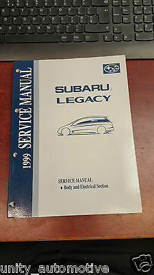 1999 Subaru Legacy Service Manual General Information OEM Rare Collectible