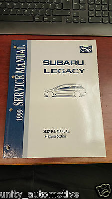 1999 Subaru Legacy Service Technical Manual Engine Section OEM Rare Collectible
