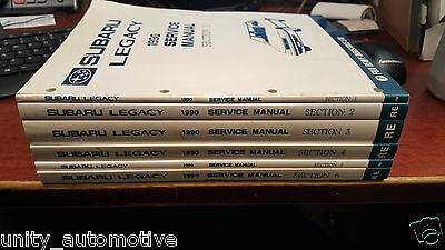 1990 Subaru Legacy Service Repair Shop Workshop Manual Set OEM Rare Collectible
