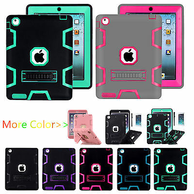 Shockproof Heavy Duty Hard Case Cover For Apple iPad Mini 1/2/3/4