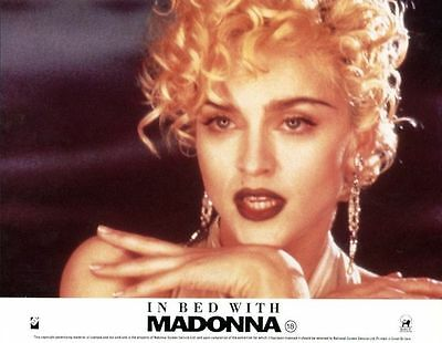 TRUTH OR DARE: IN BED WITH MADONNA -1991- orig 8x10 ENG color still #1 - MADONNA
