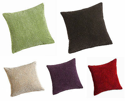 Soft Chenille Spots Cushion/Sofa Cushion Covers,2 Sizes & 5 Great Modern Colours