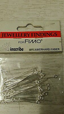 Pack 50 'Jewellery findings'  Ear-ring Pins - Silver colour    UK SELLER