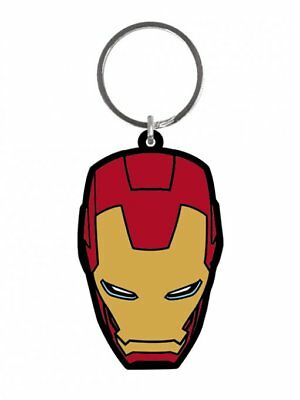 Iron Man Head Face Age Of Ultron Avengers Rubber Keyring Keychain Official