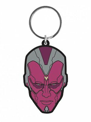 Vision Head Face Age Of Ultron Avengers Rubber Keyring Keychain Official