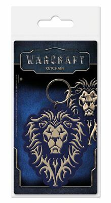 World Of Warcraft The Alliance Movie Game Black Rubber Keyring Keychain Official