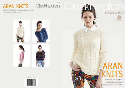 Cleckheaton Country Aran 10ply - Knitting Patterns - Two Fabulous Patterns