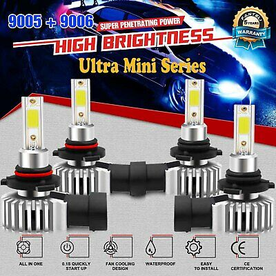 Combo 9005 High 9006 Low Beam LED Headlight 6000K White Total 3600W 540000LM