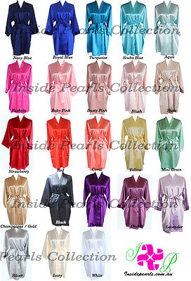PACK 4-11 Bridesmaid Robes Bridal Party Bride Satin robe wedding dressing gown