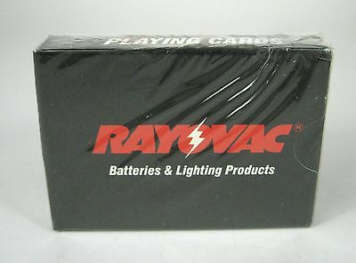 NEW Rayovac Batteries Lighting Projects Playing Cards Factory Sealed Deck USA