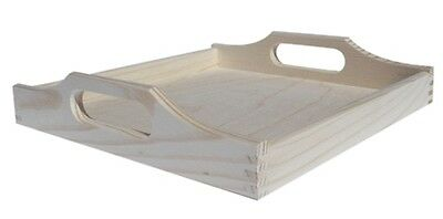 Rectangular pine wood tray 50x30x3 CM DD194 country cottage style
