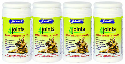 Johnsons 4 Joints Mobility Extra Strength Tablets 30 Pack  For Dogs x4