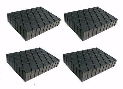 "Solid Rubber Lift Block Pad (6"" x 4 3/4"" x 1.5"") (Set Of 4) RUBBER SPACER -Italy"