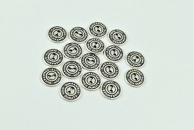 12 Mm Metal Two Hole Sew Through Silver Shirt Buttons