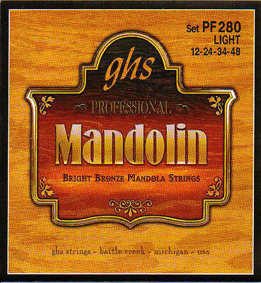 GHS tenor mandolin / mandola strings light gauge bronze wound GHS PF280