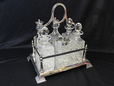 Antique Cruet set cut glass that has been cut and then polished Complete London