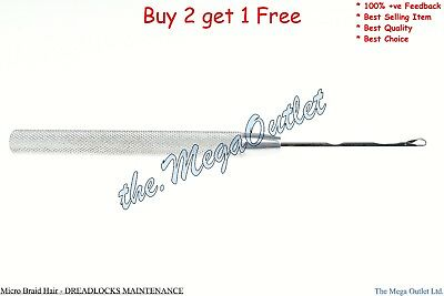 LATCH HOOK CROCHET Hook Needle - Hair Extensions Needdle DREADLOCKS MAINTENANCE