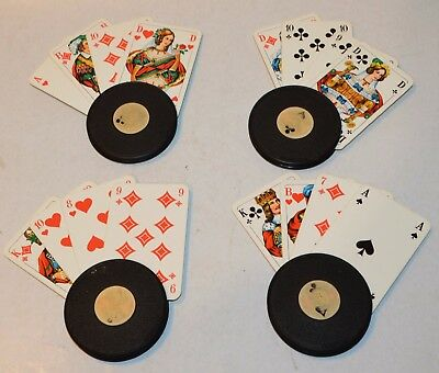 Vintage Poker, Romme, Canasta Playing Card Holders