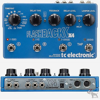 TC Electronic Flashback X4 Flash Back Stereo Echo/Delay Looper Guitar Pedal