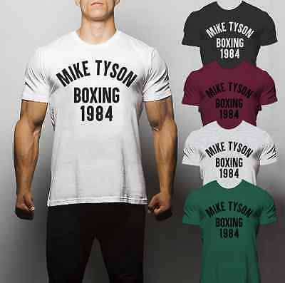 Mike Tyson Boxing 1984 Muhammed Ali Box T shirt Gym Training Muscle Running MMA