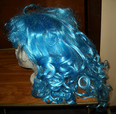 Nwt Blue Hair Wig One Size Fits All Totally Ghoul Halloween Costume Dress Up