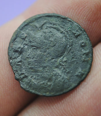 Ancient Roman bronze Constantine The Great 'urbs roma' She Wolf reverse