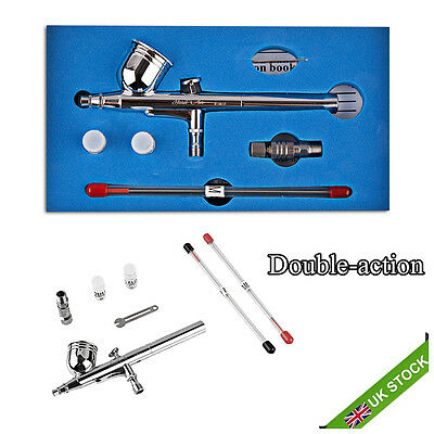 Double Action CopperAirbrush Air Brush Spray Gun Paint Kit Set 0.2mm 0.3mm 0.5mm