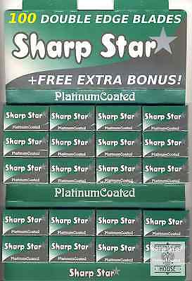 100 SHARP STAR razor blades - ALMOST GONE! (rare, special edition)+FREE GIFT!