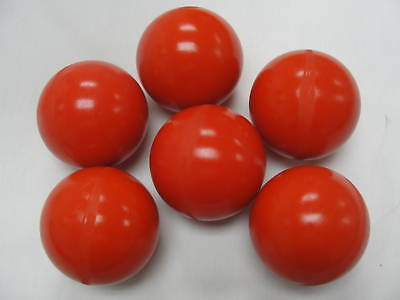 "Polyurethane/urethane Valve Ball 2 1/2"" Diameter - 90 Red Lot Of 6"