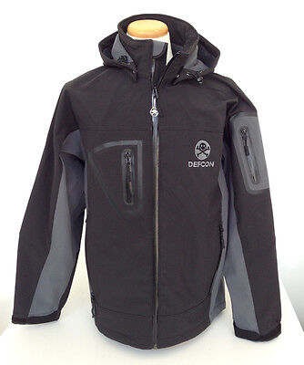 DEF CON waterproof soft shell jacket black Port Authority