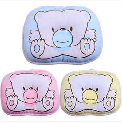 Baby Boys Girls Kids Support Cushion Pad Soft Cotton Prevent Flat Head Pillow