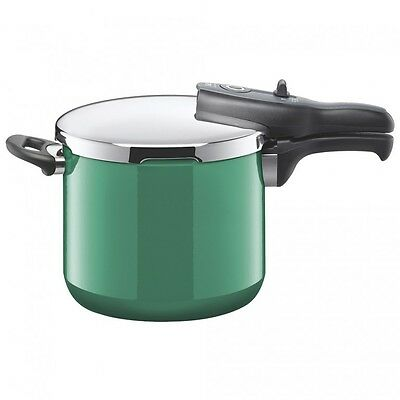 New Silit Sicomatic T-Plus Pressure Cooker 6.5L Ocean Green Made In Germany