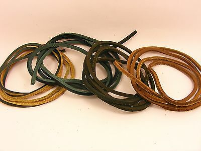 Top Quality Soft GENUINE 3x3mm LEATHER FLAT String CORD for Necklace or Shoelace