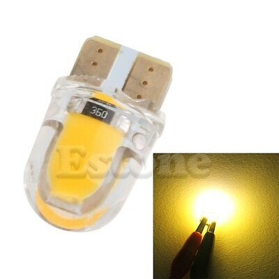 1pc T10 194 168 W5W 8 SMD LED Canbus Silica Bright License Light Bulb Warm white