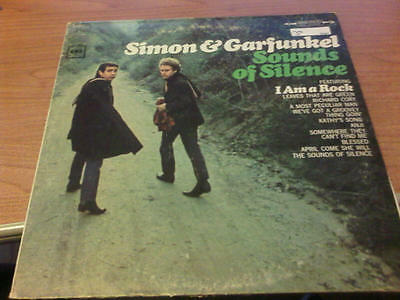 Lp Simon And Garfunkel Sounds Of Silence Columbia  G+/vg+ Us Ps 1966 Green Title