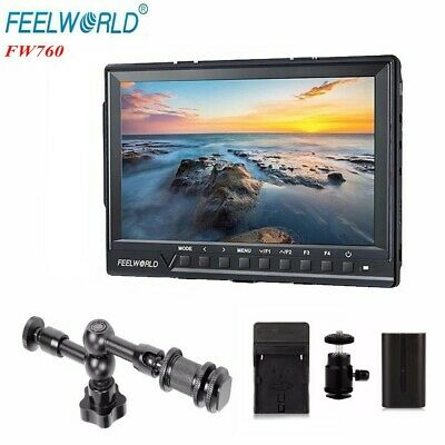 Feelworld FW-760 7'' Video Monitor IPS Full HD 1920x1200 1080p HDMI + Battery