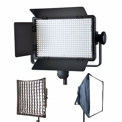 Godox LED500 C 3300K-5600K LED Video Continuous Light Lamp Panel + Softbox