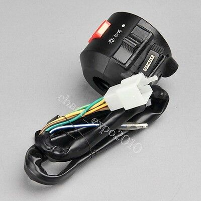 """Motorcycle 7/8"""" Handlebar Light Flameout Electrical Start Right Switch Honda #Y3"""
