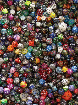 Chessex Bulk Pound Of Dice (80-100 Pcs) Assorted Gaming Ad&d Free Priority Mail