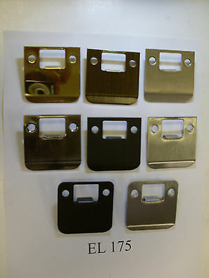 "Don-Jo EL175  2 1/4"" overall length RADIUS & SQUARE extended lip strike plates"